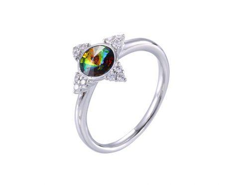 Varázslatos swarovski kristályos ezüst-ródium gyűrű