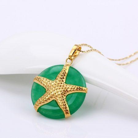 Keramia-alapon-gyonyoru-tengeri-csillag-aranyozott-medal