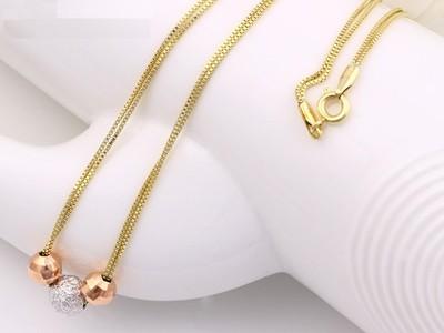 Elegans-tobbszinu-bogyos-arany-ezust-nyaklanc