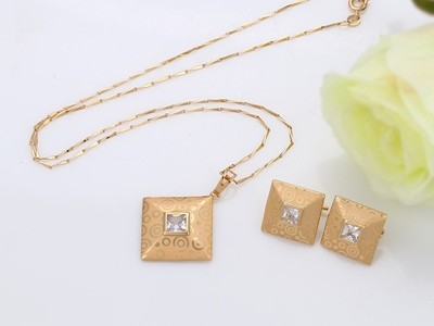 Elegans-nyomott-mintas-arany-szett