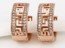 Attort-mintas-strasszkoves-rozsa-arany-fulbevalo