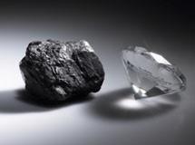 gyémántból grafit