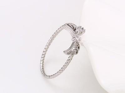Masnis csavart ezüst-ródium gyűrű