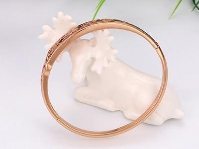 Áttört mintás buborék rózsa arany karperec